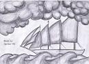 Ein Schiff auf rauer See...