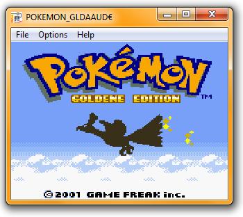 Pokémon Gold im TGB Dual