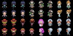 Overworld-Personen SW (Pokémon Tileset)