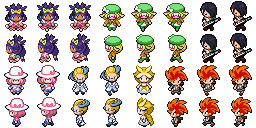 Overworld-Personen SW2 (Pokémon Tileset)
