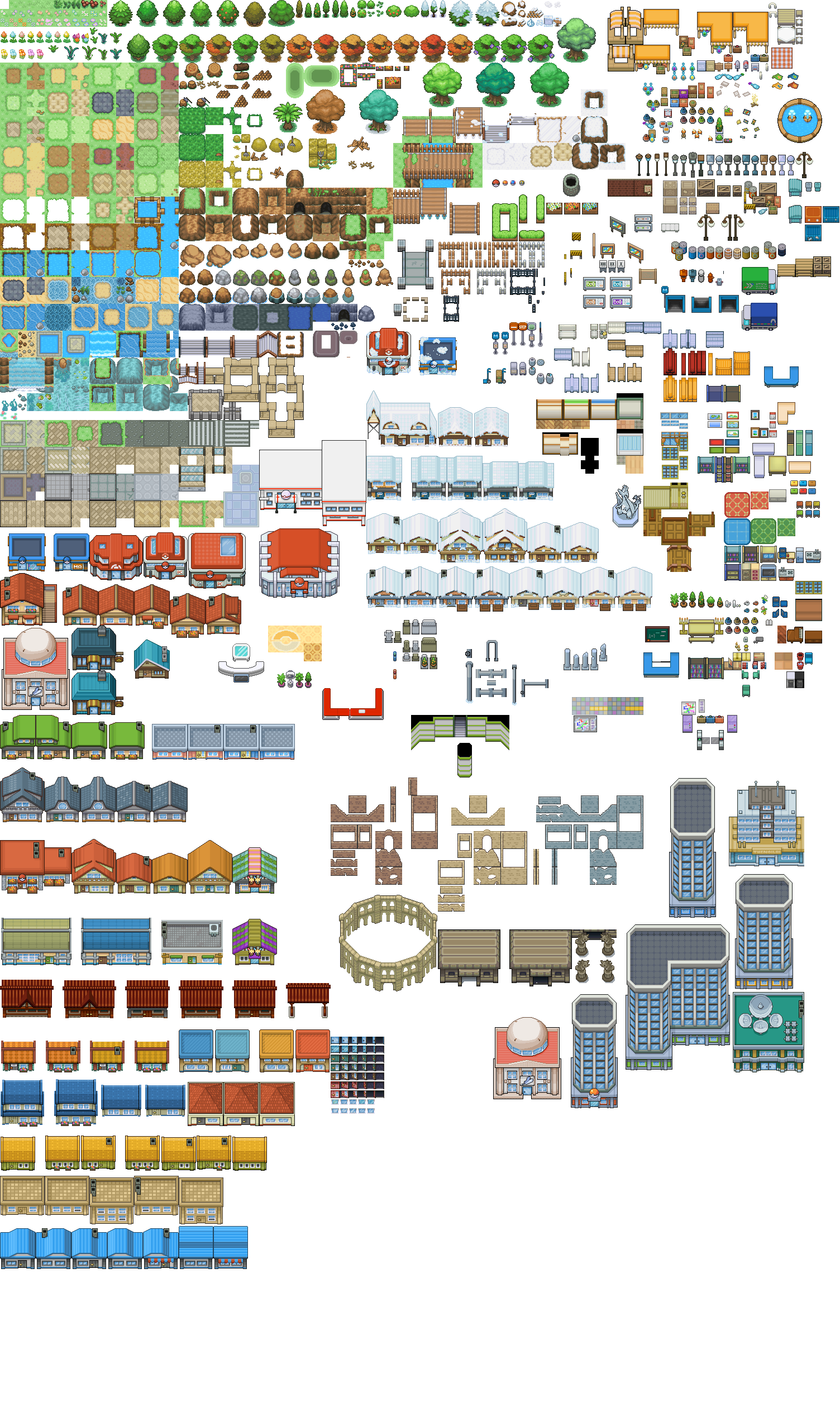 Pixel art pokemon tileset from public tiles by pixel art pokemon tileset from public tiles by chaoticcherrycake on deviantart art pixels pinterest rpg maker rpg and deviantart gumiabroncs Gallery