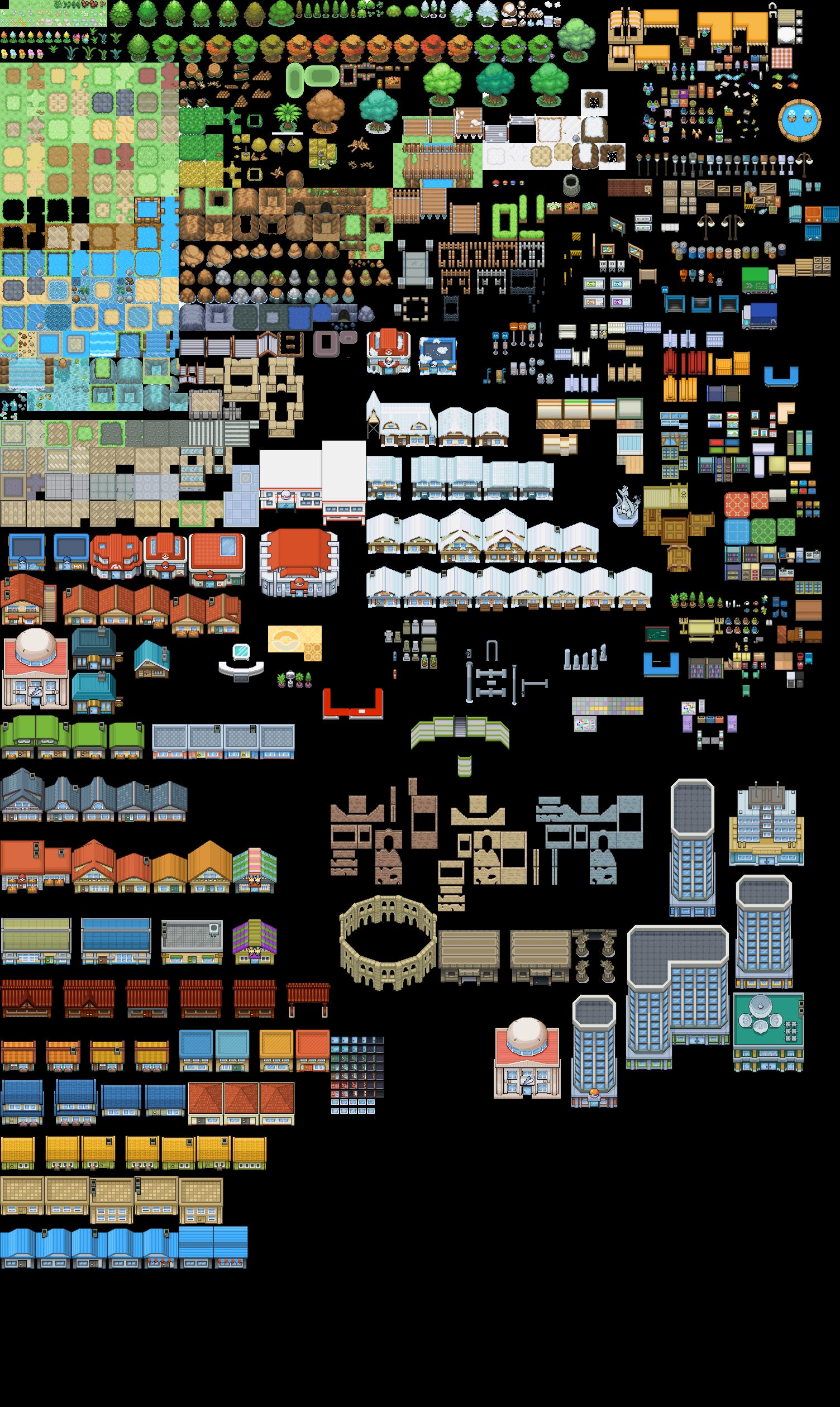 Pokemon Tileset From Public Tiles WIP by ChaoticCherryCakeviantart on deviantART Pixel Art Collection Pinterest