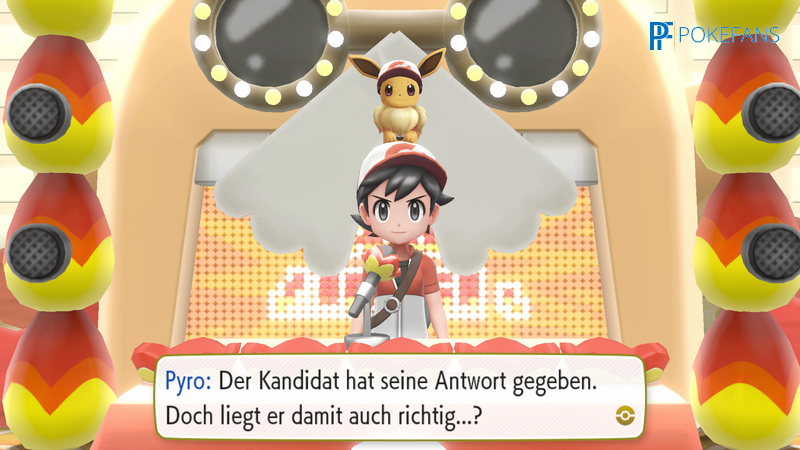 Screenshot aus Let's Go, Pikachu und Evoli!