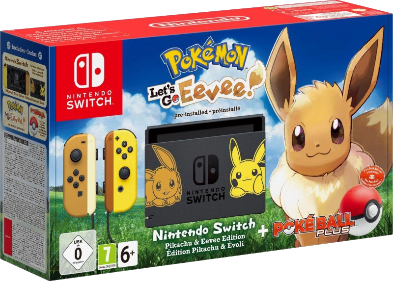 Spezielle Nintendo-Switch im Bundle mit Let's Go, Evoli!
