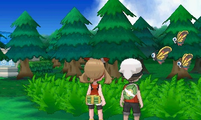 Brix und Maike vor dem hohen Gras