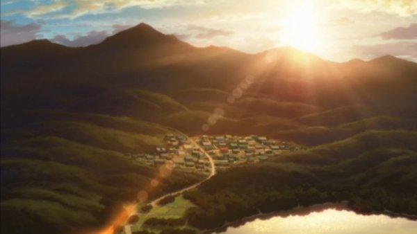 Vertania City bei Sonnenuntergang