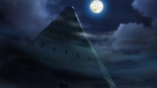 Der Pokémonturm bei Nacht