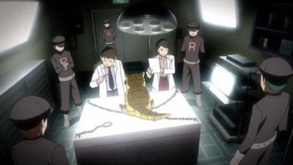 Team Rocket führt Experimente an Pokémon durch