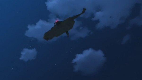 Giovanni entkommt in einem Helikopter