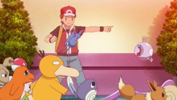 Rot befreit Pokémon