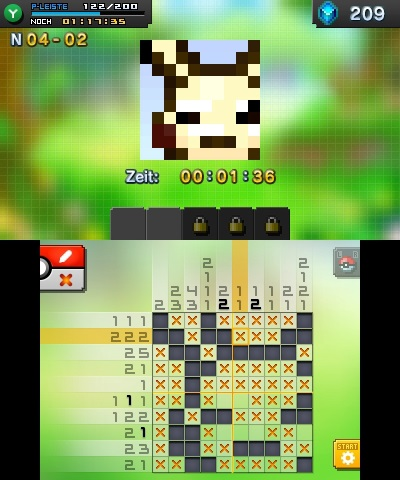 Screenshot aus Pokémon Picross