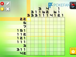 Pokemon picross 02 02 images pokemon images for Pokemon picross mural 02