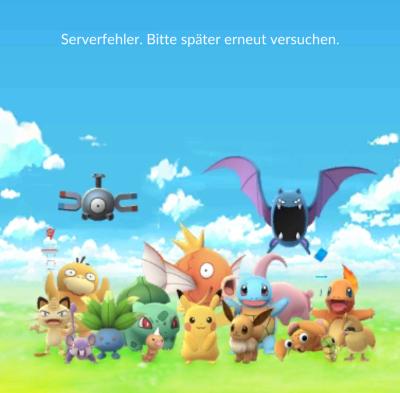 Serverfehler Pokemon Go