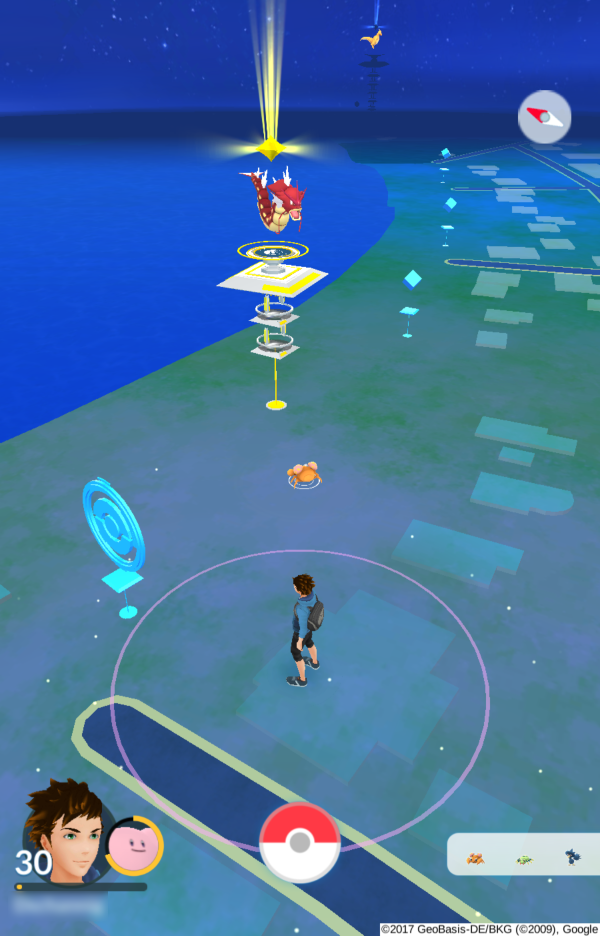 Screenshot aus Pokémon GO