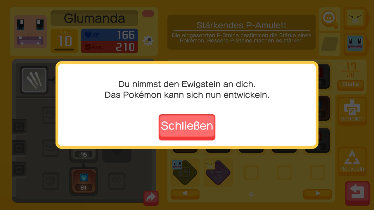 Screenshot aus Pokémon Quest