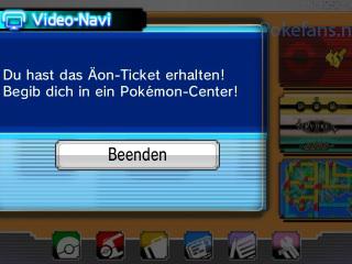 Äon-Ticket Mitteilung