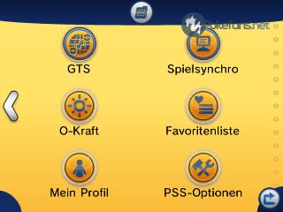 PSS Hauptmenü