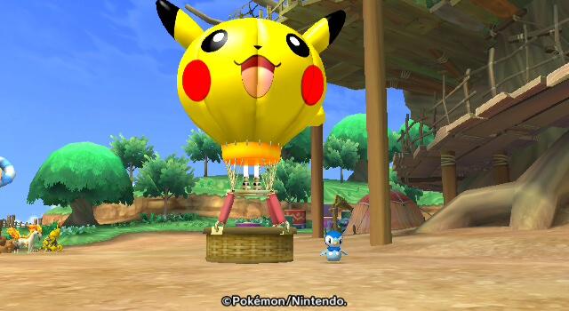 Plinfa repariert den Heißluftballon für Pikachu