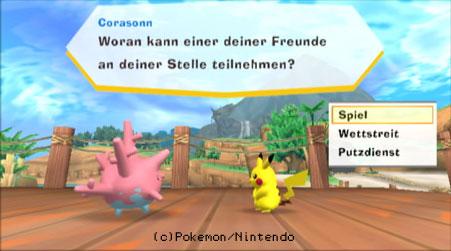 Pikachu bekommt von Corasonn Fragen gestellt