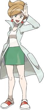 Professorin Esche aus Pokémon Schwarz und Weiß
