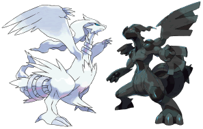 Zekrom und Reshiram - die beiden legendären Pokémon aus Schwarz und Weiß