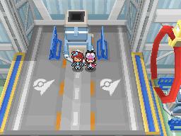 Die Arenaleiterin Géraldine in Panaero City in Pokémon Schwarz und Weiß
