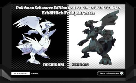 Reshiram und Zekrom aus Pokémon Schwarz und Weiß