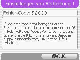 Fehlercode 52000