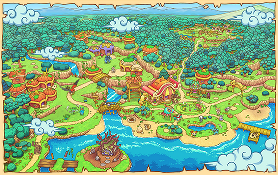 Karte von Ruhenau