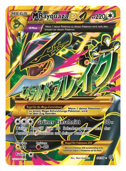 Scan von der neuen Mega-Rayquaza-Karte