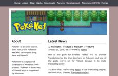 Pokénet-Website (Screenshot)