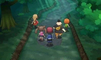 Der Protagonist und seine Freunde betreten den Nouvaria Wald