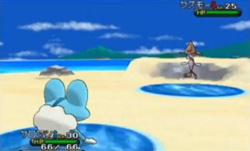 Ein Kampf am Strand