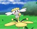 Flabébé | Screenshot | Flabébé mit einer gelben Blume.
