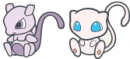 Mew |  | Mewtu und Mew Dream World Doll Artwork