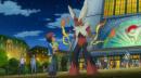 "Lohgock |  | Mega-Lohgocks erster Auftritt im Anime, in der Episode, der 17. Staffel ""Verfolgungsjagd in Illumina City!""."
