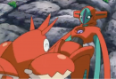 Krebscorps |  | Krebscorps und Deoxys in Pokemon Galactic Battle Folge 8