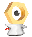 Meltan  |  | Meltans 3D-Modell in Let's Go, Pikachu! und Let's Go, Evoli!