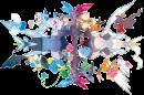 Kyurem |  | Artwork zum Schwarzen Kyurem, Weißem Kyurem und mehreren Pokémon