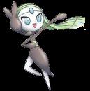 Meloetta |  | Ken Sugimori Artwork zum 15. Pokémon Kinofilm.