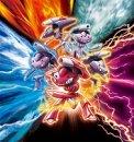 Genesect | Artwork | Artwork der Genesect Bande aus dem 16. Pokémon Kinofilm, welche die Attacke Techblaster mit verschiedenen Modulen einsetzt.