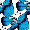 Vivillon | Artwork | Pokémon Global Link Artwork zum Aquamarinmuster