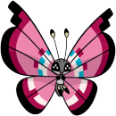 Vivillon |  | Pokémon Global Link Artwork zum Blumenmeermuster