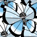 Vivillon | Artwork | Pokémon Global Link Artwork zum Flockenmuster