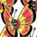 Vivillon | Artwork | Pokémon Global Link Artwork zum Sonnenmuster
