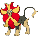Pyroleo | Artwork | Pokémon Global Link Artwork eines männlichen Pyroleos