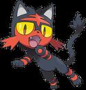 Flamiau |  | Sugimori-Artwork zu Flamiau aus Pokémon Ultrasonne und Ultramond.