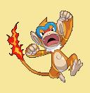 Panpyro-Sprite aus Pokémon Conquest
