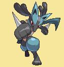 Lucario-Sprite aus Pokémon Conquest