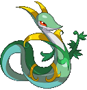 Serpiroyal-Sprite aus Pokémon Conquest